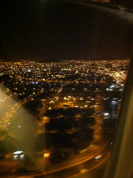 Landing in Lima last night.